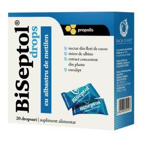BiSeptol drops - cu propolis si albastru de metilen (20 buc)