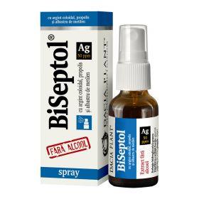 BiSeptol spray 20 ml cu propolis, albastru de metilen si argint coloidal, fara alcool