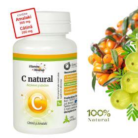 C Natural cu Catina si Amalaki (Vitamina C) 60 comprimate masticabile