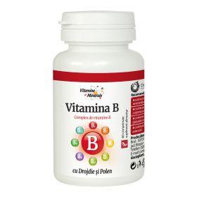 Vitamina B cu drojdie si polen 60 comprimate