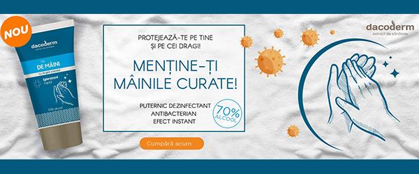 Dacia Plant: un nou produs romanesc igenizant cu 70% alcool si argint coloidal