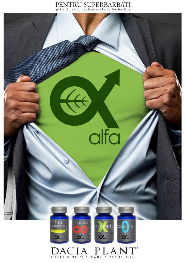 ALFA – primul brand de suplimente destinat exclusiv barbatilor